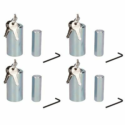 4 Pack Caravan Corner Steady Stabiliser Leg Nut Lock Insurance Approved
