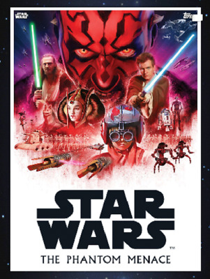 Topps Star Wars Card Trader 2019 Saga Movie Posters The Phantom Menace Black