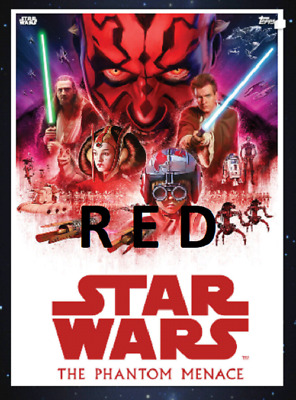 Topps Star Wars Card Trader 2019 Saga Movie Posters The Phantom Menace Red