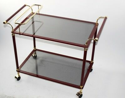 A Luxury Brass and Glass top Bar Cart Drinks Trolley - FREE Shipping  [PL4886]
