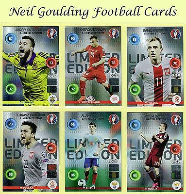 PANINI EURO 2016 Adrenalyn XL ☆☆☆☆☆ LIMITED EDITION ☆☆☆☆☆ Football Cards