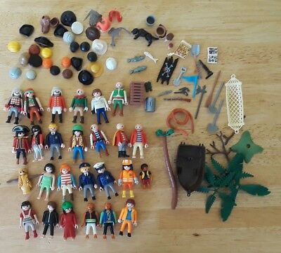 Big Lot of Miscellaneous Playmobil Figures People Accessories Pirates Weapons