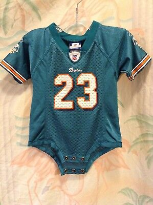 super popular 0a1c9 13672 MIAMI DOLPHINS NFL Infant Baby Girl Pink Onesie 18 mo ...