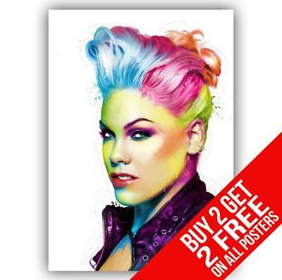 Pink Poster Art Print A4 A3 Size -Buy 2 Get Any 2 Free