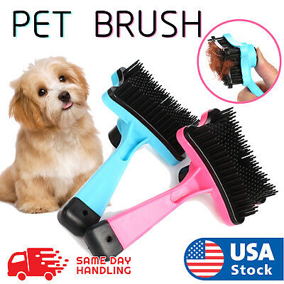 Pet Grooming Brush DeShedding Tool Comb Edge Trimming Dog Cat Fur Removal Rake
