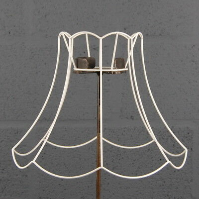 "16"" Scollop Top & Bottom Vintage Retro Wire Lampshade Lamp Shade Frame"