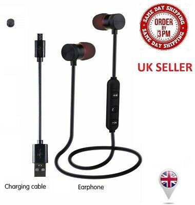 Bluetooth 4.2 Stereo Wireless Sports Earphones In-Ear Headphones iPhone Android