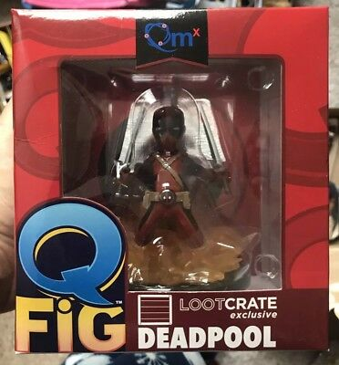 Marvel Deadpool Q-Fig Vinyl Figure - Lootcrate Red Outfit Exclusive