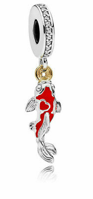 Genuine Pandora Good Fortune Carp Hanging Charm 797829CZ S925 ALE
