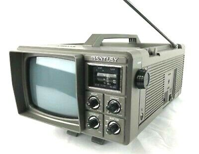 Vintage Bentley Deluxe Portable 5-Inch Black & White Television (4/T)