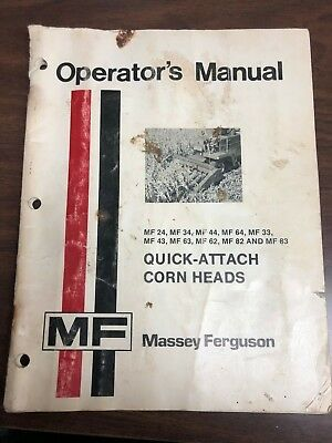 Mf 690 Operators Instruction Book Agriculture/farming Tractor Manuals & Publications