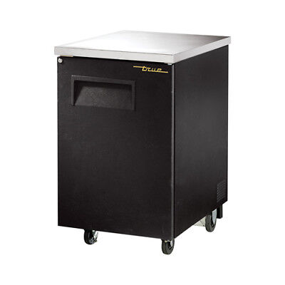 True TBB-1 Back Bar Cooler, 1 Solid Door, Black