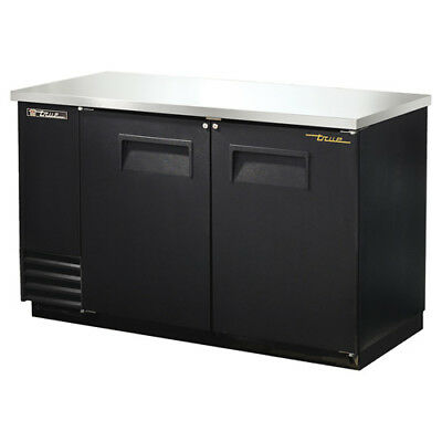 "True TBB-2 Back Bar Cooler, 2 Door, 59""W, Black"