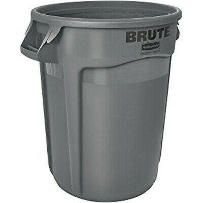 Round Brute Container - 10 Gallon Capacity, Gray