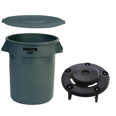 Rubbermaid BRUTECOMBODEAL32 Round Brute Container Set - 32 Gallon