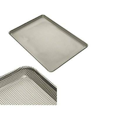 Aluminum Sheet Pan - Half Size, Fully Perforated, 16 Gauge, Heavy Duty Glazed