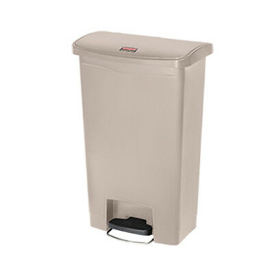 Rubbermaid Slim Jim 50L/13G Step Waste Bin, Beige
