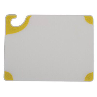 "Saf-T-Grip White Cutting Board, 15""Wx20""D, Blue"