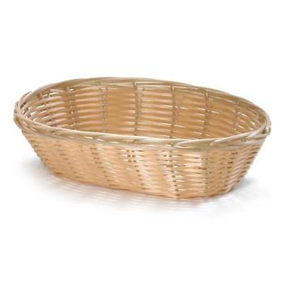 "Handwoven Basket Oval, 9""W x 6""D x 2-1/4"" H, Black, Case of 12"