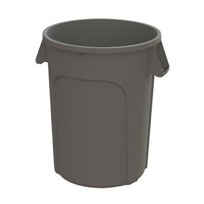 Kratos 32 Gallon Round Trash Can, Gray