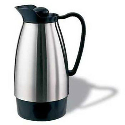 Service Ideas Hot Beverage Decanter, Glass Lined 33.8 oz. Cap., Stainless Steel
