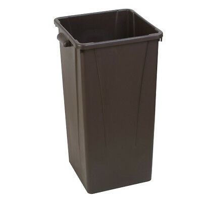 Carlisle Centurian Tall Square Waste Container, 23 Gallon Capacity, Brown