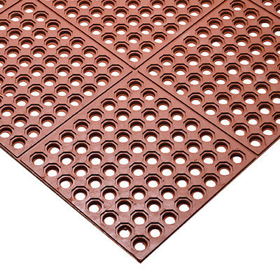 Anti-Fatigue Mat - 3 ft. x 3 ft., Interlocking, Black