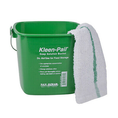 Kleen-Pail Soap/Sanitizing Solution Safety Pail 3 Quart, Green