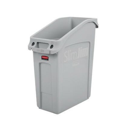 Rubbermaid 2026 Slim Jim Under-Counter Container, 13 Gallon, Gray