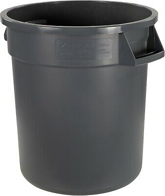 Round Waste Container - 10 Gallon Capacity, Gray