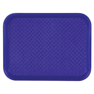 "Fast Food Tray - 12""Wx16""D, Blue, Case of 24"