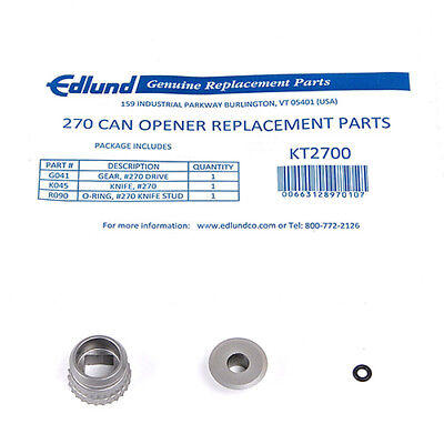 Edlund KT2700 Replacement Parts Kit for Can Opener 745-052