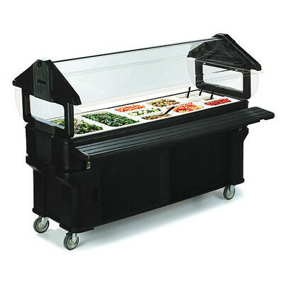 Carlisle Six-Star Portable Food Bar, Standard Height, Enclosed Base, Black