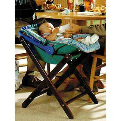 Wooden Infant Carrier Stand, Walnut Finish