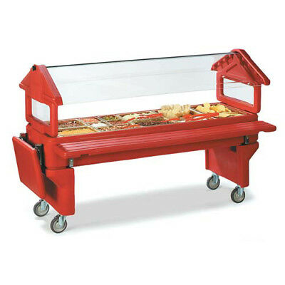 Carlisle Six-Star Portable Food Bar, Youth Height, Open Base, Black