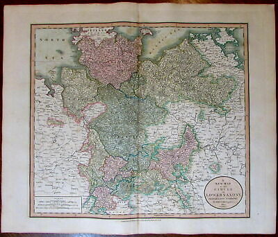 Lower Saxony Germany Mecklenburg Holstein 1811 John Cary lovely large old map
