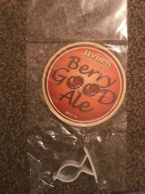 Hydes Berry Good Ale Beer Pump Clip Breweriana Brand New Free Fast P+P