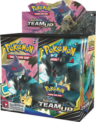 NEW! Pokemon TCG Sun and Moon Team Up. Booster Box. 36 Booster Packs.