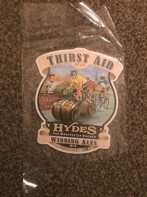 Hydes Thirst Aid Beer Pump Clip Breweriana Brand New Free Fast P+P