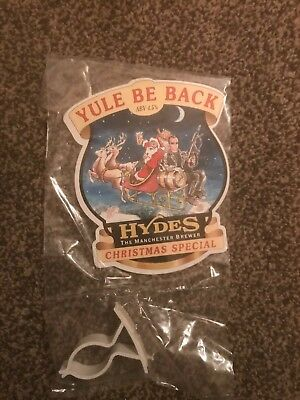 Hydes Yule Be Back Beer Pump Clip Breweriana Brand New Free Fast P+P