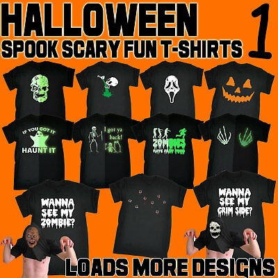 Halloween Men's T-Shirts Scary Spooky Fun Novelty T Shirts cheap costume Tees