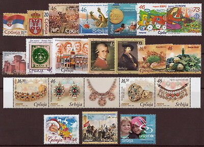 Serbia 2006 Flags, Coat of Arms, Sport, Christmas, UNICEF, Complete year MNH