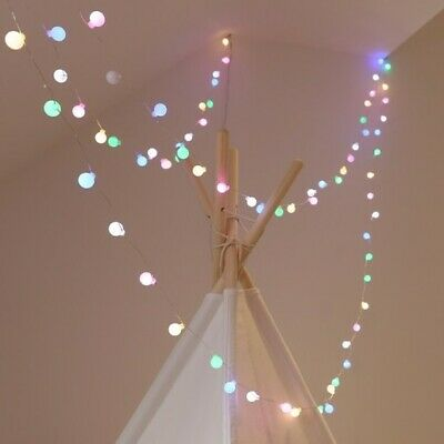 50/100 LED String Fairy Lights w/Bulbs Christmas Party Wedding Garden Decor