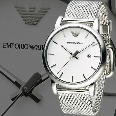 5cceebf0d90 NEW Emporio Armani AR1812 Mens Silver Stainless Steel Fashion Watch  225