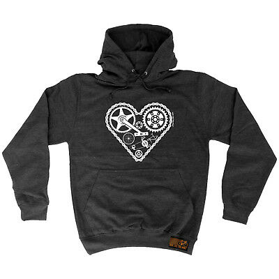 Cycling Hoodie Heart Parts hoody top bicycle cycle funny Birthday HOODY