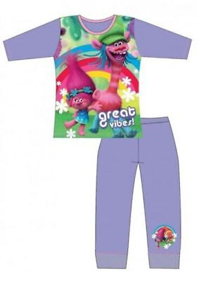 Girls Pyjamas Trolls Pjs Movie Poppy Kids Lavender 4 to 10 Years. New
