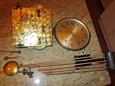 Seth Thomas Westminster clock movement dial bezel hands pend chimes hands #132