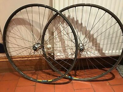 vintage 700c mavic open 4 cd suntour cyclone hubs wheels wheelsets