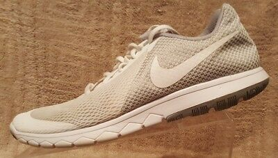 57b24b42d963 Nike FLEX EXPERIENCE RN 6 Womens White Grey Athletic Running Shoes Size 11