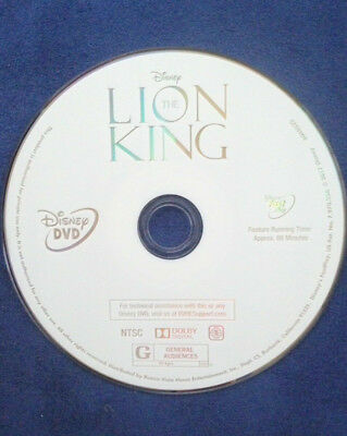 THE LION KING DVD Disc Only